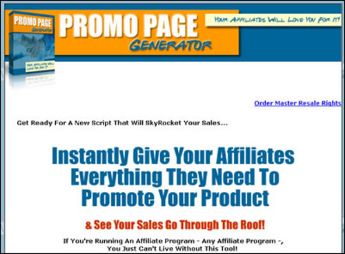 Product picture PromoPageGeneratorMRR4535.zip
